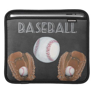 Vintage Baseball Chalkboard Design iPad Sleeve