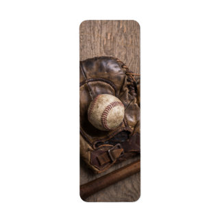 Vintage Baseball Equipment Return Address Label