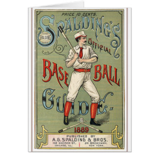 Vintage Baseball Guide Card