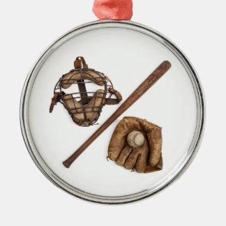 Vintage Baseball Metal Ornament