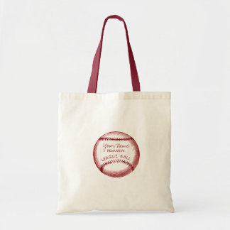 Vintage Baseball, personalized ball Tote Bag