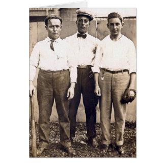 Vintage Baseball Players in the Neighborhood Card