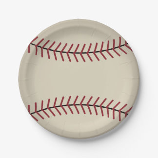 Vintage Baseball Sports Party Paper Plates