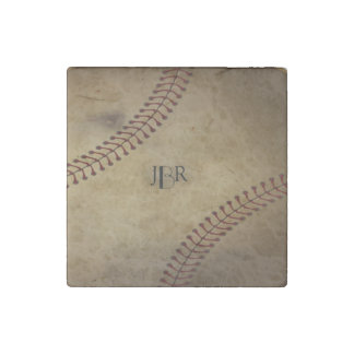 Vintage Baseball Stone Magnet