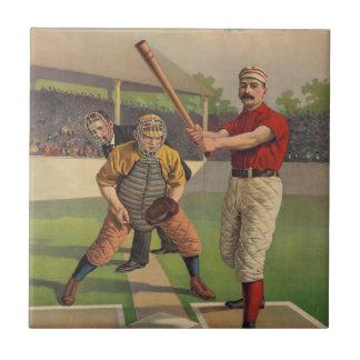 Vintage Baseball Tile