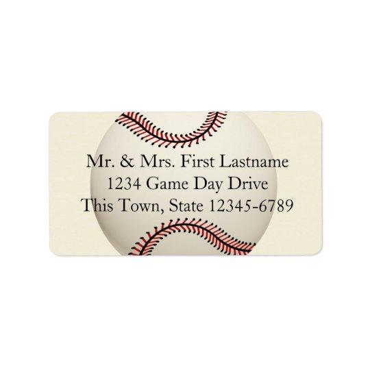 Vintage Baseball Wedding Label