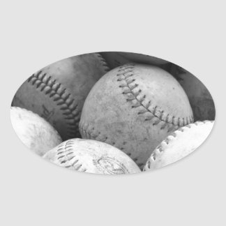 Vintage Baseballs in Black and White Stickers