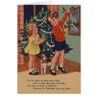 Vintage Basic Reader Style Christmas Card