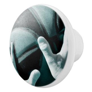 Vintage Basketball Ceramic Knob