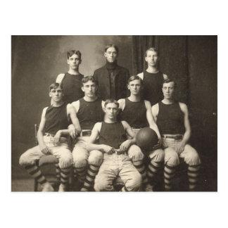 Vintage Basketball Team Postcard