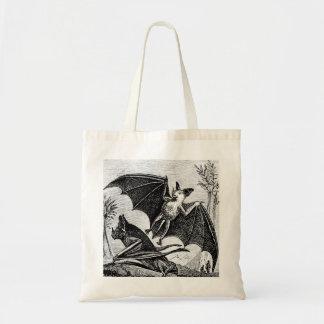 Vintage Bat Illustration Tote Budget Tote Bag