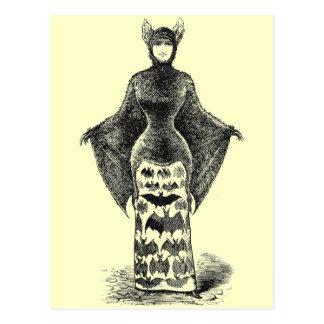 Vintage Bat Lady Post Cards