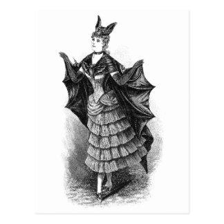 Vintage Bat Lady Postcards