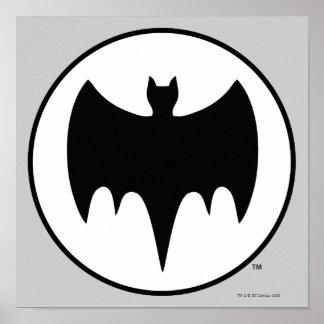 Vintage Bat Symbol Poster