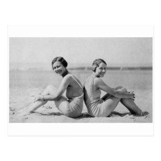 Vintage bathers postcard