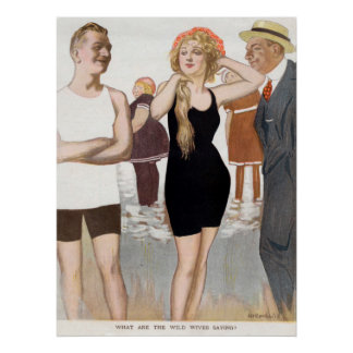 Vintage Bathing Beauty Poster