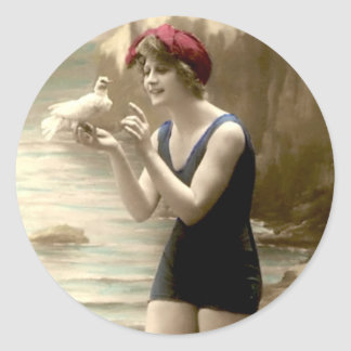 Vintage Bathing Beauty - Stickers