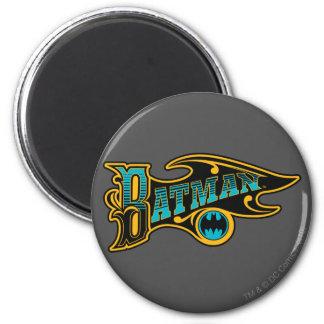 Vintage Batman Logo 6 Cm Round Magnet