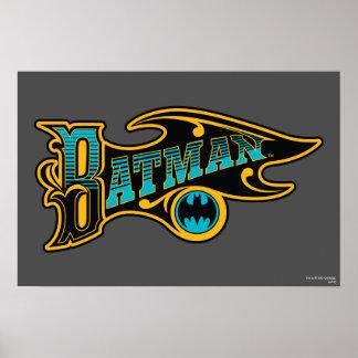Vintage Batman Logo Poster