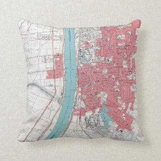 Vintage Baton Rouge Riverfront Cushion