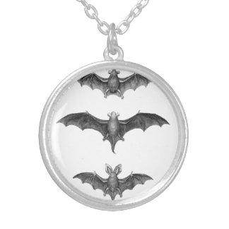 Vintage Bats Gothic Horror Punk Pendant Necklace