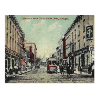 Vintage Battle Creek Michigan Postcard