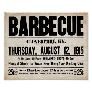 Vintage BBQ - Barbeque All You Can Eat Print