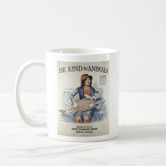 Vintage - Be Kind to Animals-At the Vet's Office, Coffee Mug