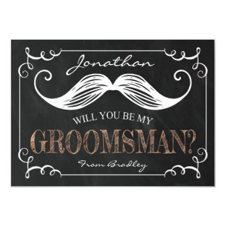 VINTAGE BE MY GROOMSMEN | GROOMSMAN CARD