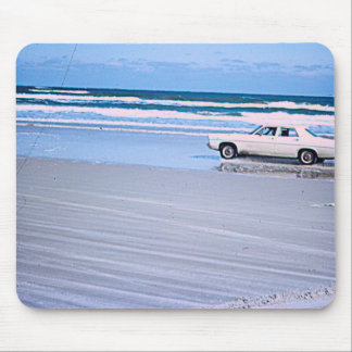 Vintage Beach Car Mouse Pad