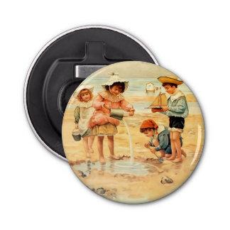 Vintage Beach Children Sand Ocean Bottle Opener