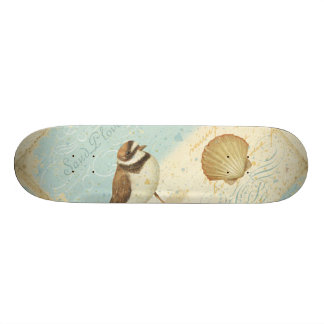 Vintage Beach Scene Custom Skateboard