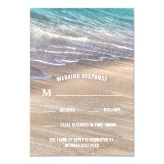 Vintage Beach Waves and Sand Wedding RSVP Cards