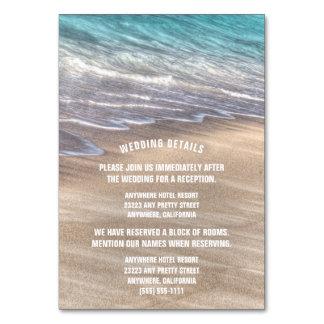 Vintage Beach Waves Wedding Enclosure Cards Table Card
