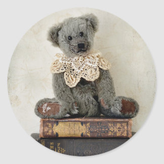 Vintage Bear on Vintage Books Sticker