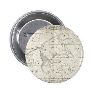 Vintage Bear Star Constellation 6 Cm Round Badge