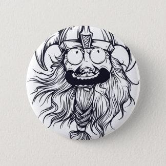 vintage bearded human 6 cm round badge
