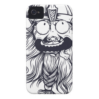 vintage bearded human Case-Mate iPhone 4 case