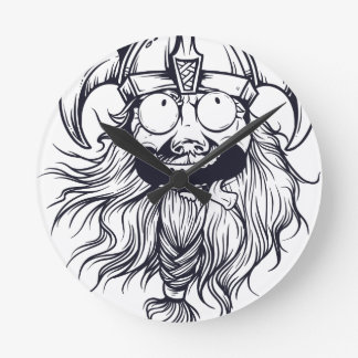 vintage bearded human round clock