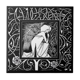 Vintage Beardsley Angel Ceramic Tile