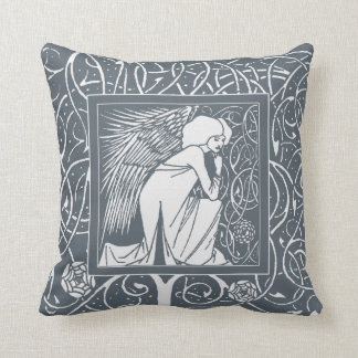 Vintage Beardsley Angel Custom Color Pillow