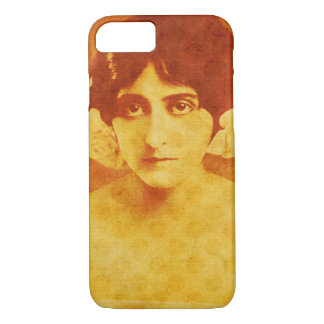 Vintage beautiful fashionable lady iphone 7 case