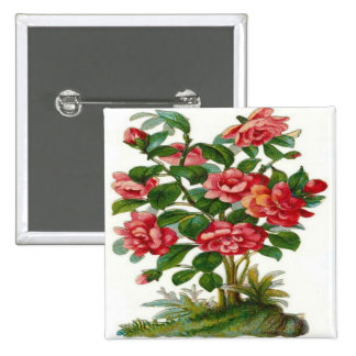Vintage Beautiful Pink Flowers Pin