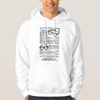Vintage Bebop Glasses Newspaper ad Hoodie
