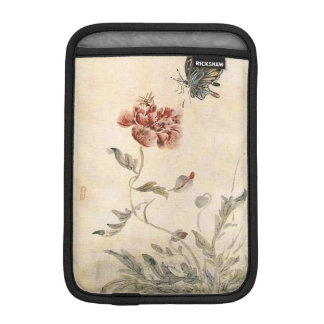 Vintage Bee, Butterfly and Poppy Watercolor iPad Mini Sleeve