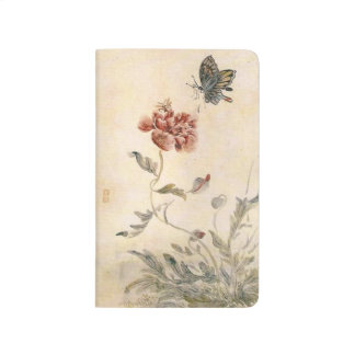 Vintage Bee, Butterfly and Poppy Watercolor Journal
