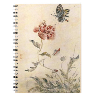 Vintage Bee, Butterfly and Poppy Watercolor Notebooks