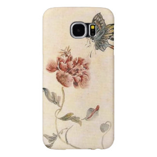 Vintage Bee, Butterfly and Poppy Watercolor Samsung Galaxy S6 Cases