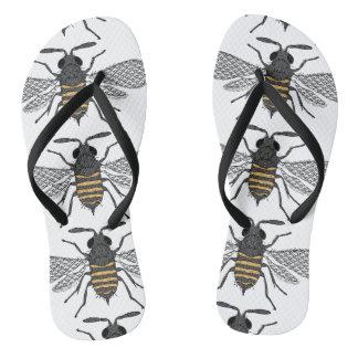 vintage bee flip flops shoes sandals thongs