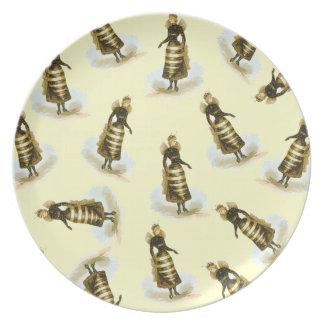 Vintage Bee Ladies Plate